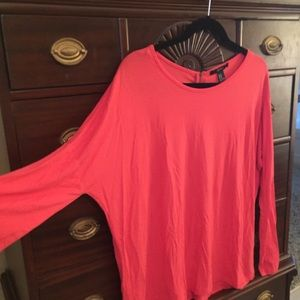 Pink long sleeved medium top.